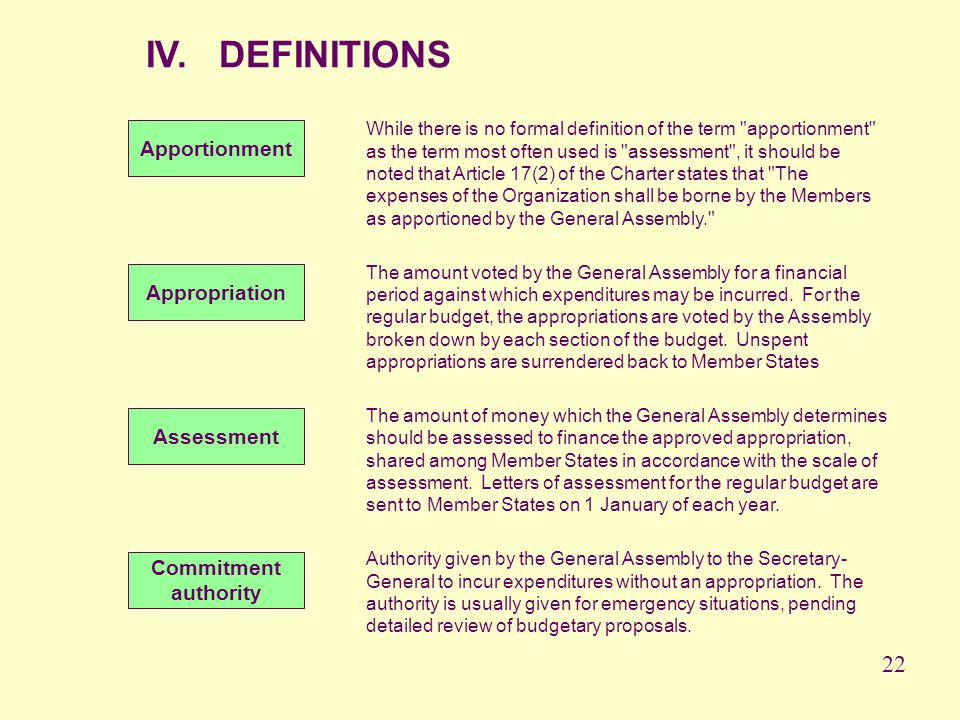 IV. DEFINITIONS While there is no formal definition of the term