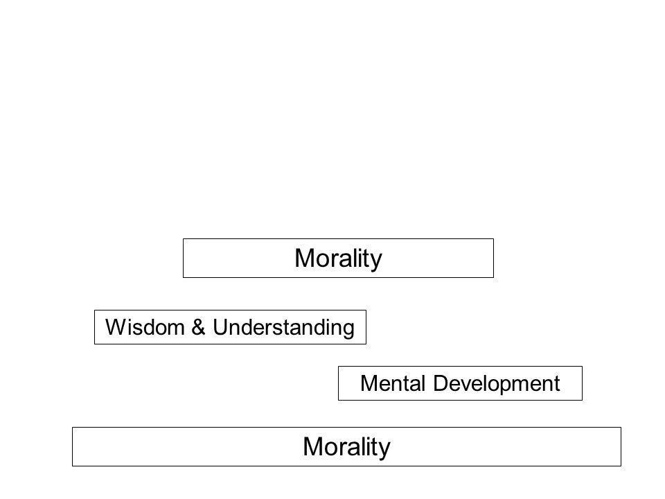 Morality Mental Development Wisdom & Understanding Morality Mental Development Wisdom & Understanding NIBBANA!! Stream Entry