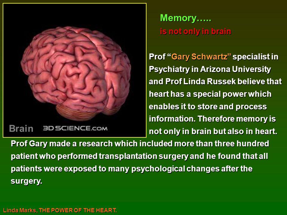 Prof Gary Schwartz specialist in Prof Gary Schwartz specialist in Psychiatry in Arizona University Psychiatry in Arizona University and Prof Linda Rus