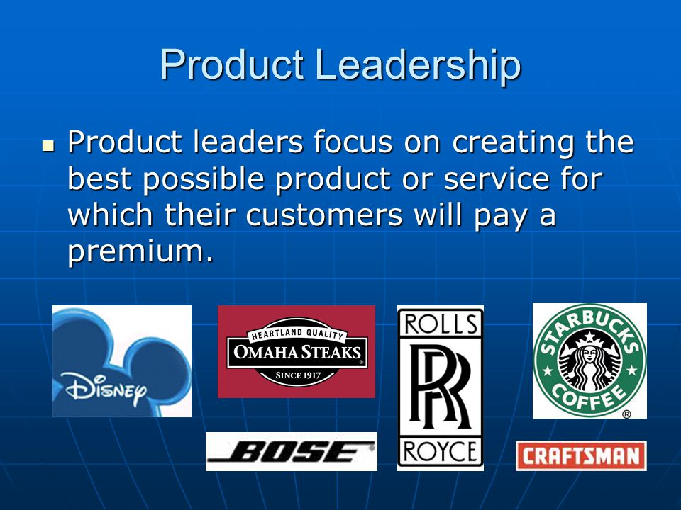 Product Leadership Product introduction Product Growth and Brand Recognition Crest and Maturation Product Decline Product is introduced and marketed as the next big thing, Obsolescence Most products go through a standard growth cycle.