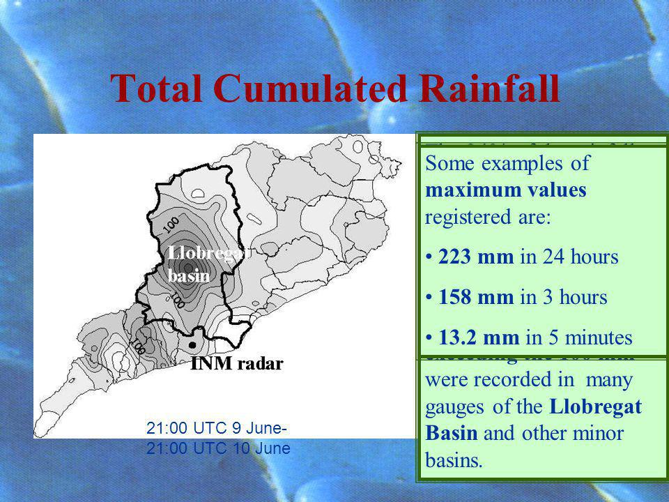 Total Cumulated Rainfall The 94% of the rainfall gauges of the IBC registered a cumulated rainfall above 15 mm in 24 hours.