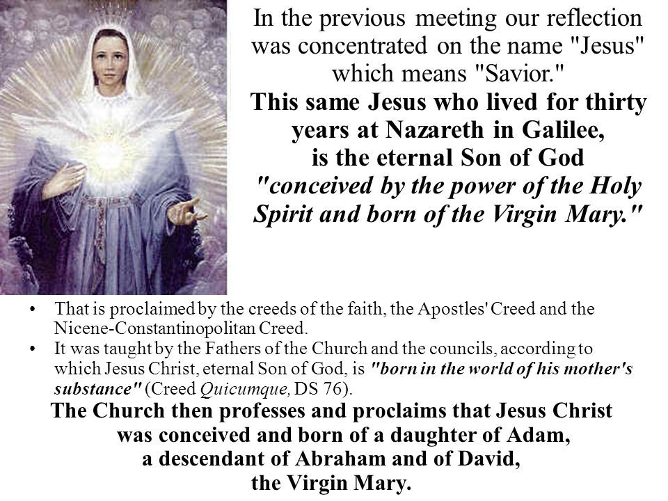 That is proclaimed by the creeds of the faith, the Apostles' Creed and the Nicene-Constantinopolitan Creed. It was taught by the Fathers of the Church