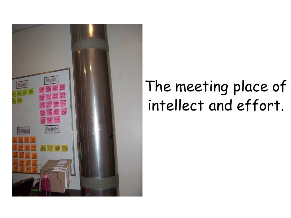 The meeting place of intellect and effort.