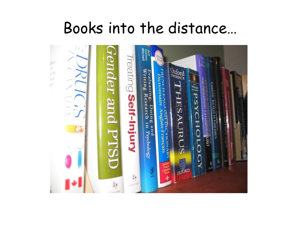 Books into the distance…