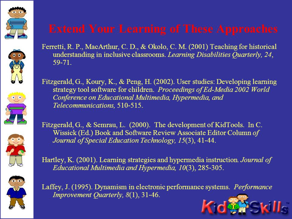 Extend Your Learning of These Approaches Ferretti, R.