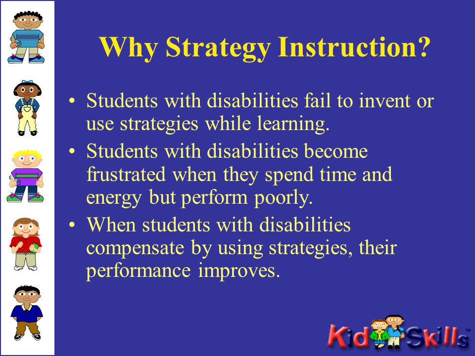 Why Strategy Instruction.