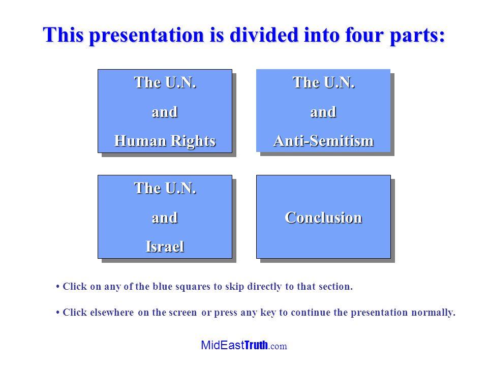 MidEast Truth.com Discrimination against Israel in the U.N.