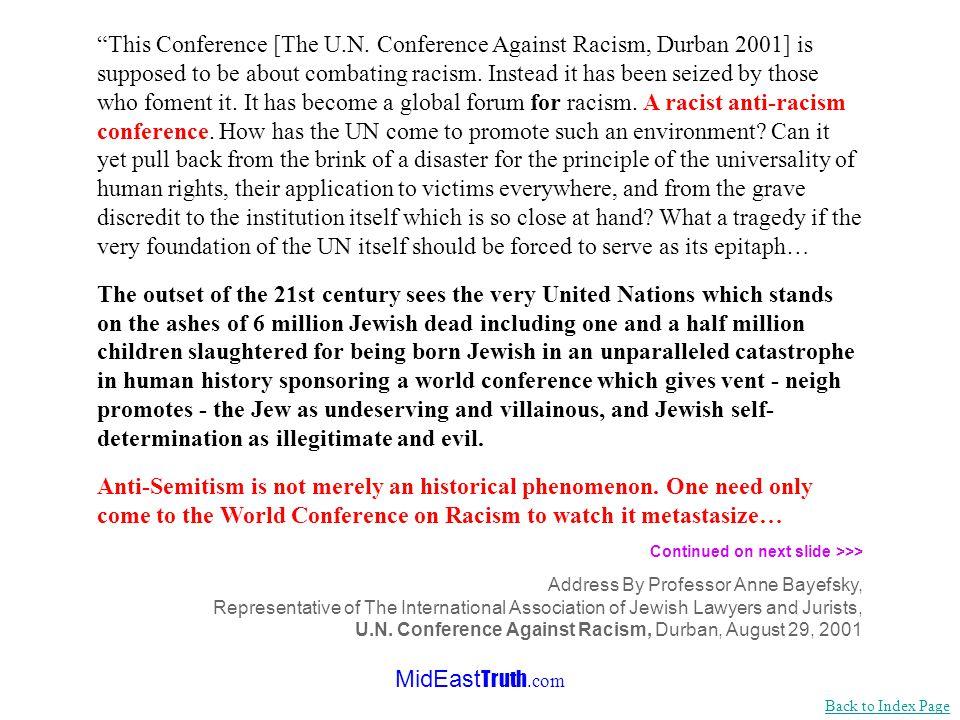 MidEast Truth.com The U.N.