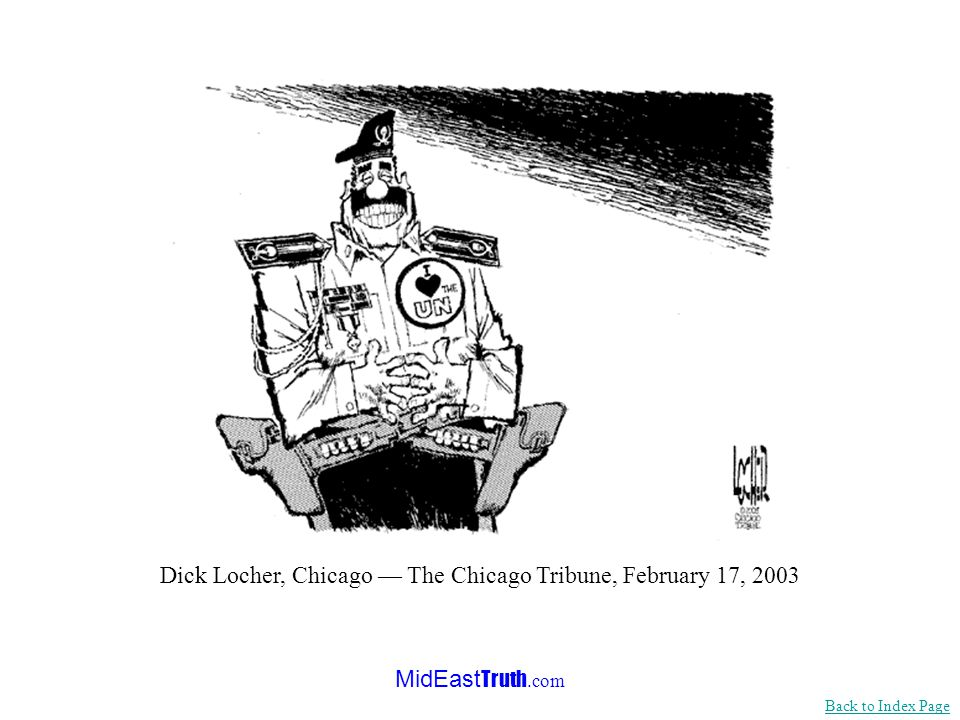 MidEast Truth.com Michael Ramirez, The Los Angeles Times, May 1, 2003 Back to Index Page