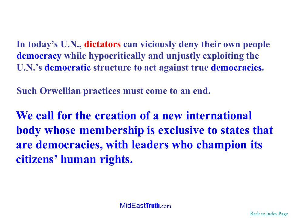 MidEast Truth.com …The U.N.