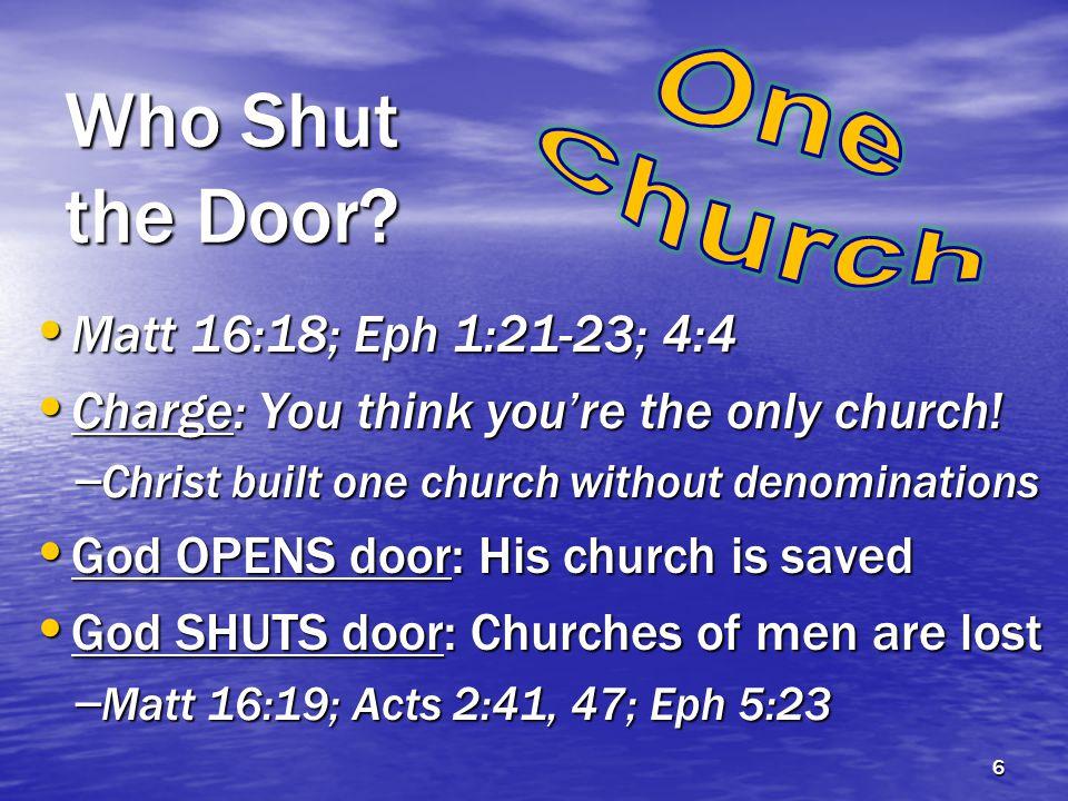 Who Shut the Door.
