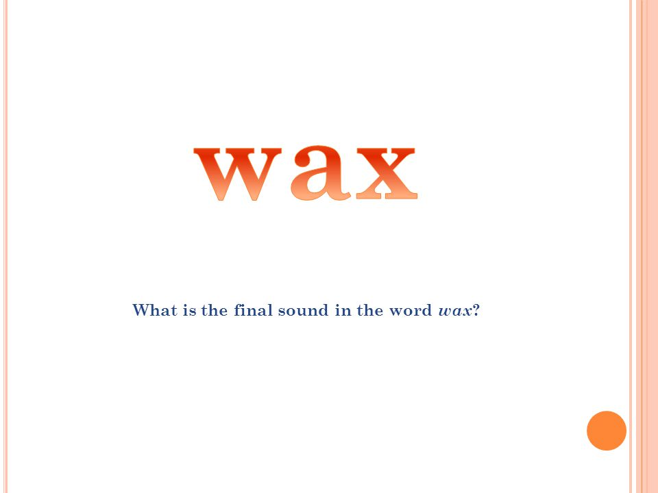 What is the beginning sound in the word in