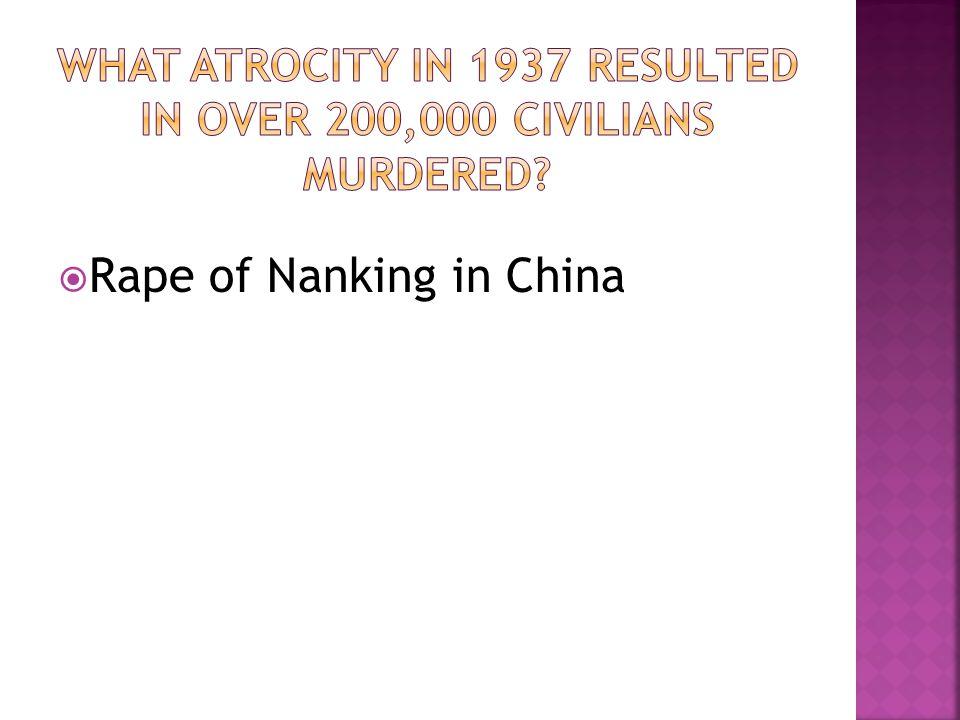 Rape of Nanking in China