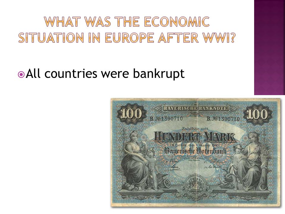 All countries were bankrupt