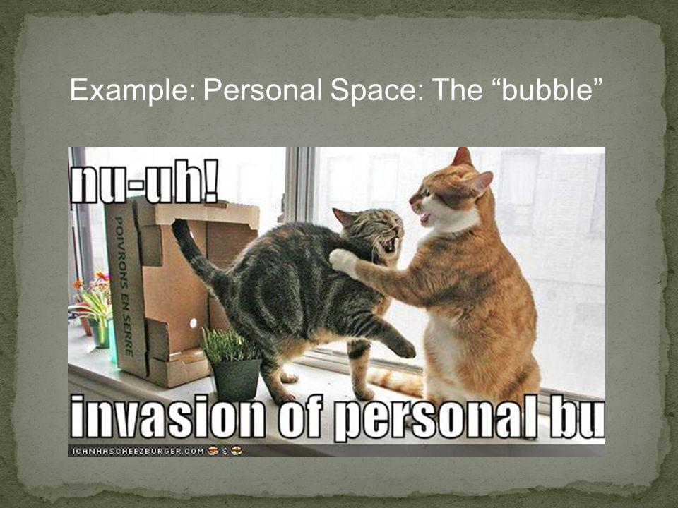 Example: Personal Space: The bubble