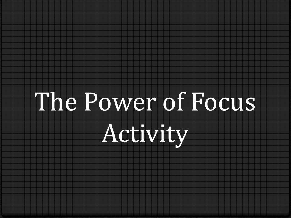 The Power of Focus Activity