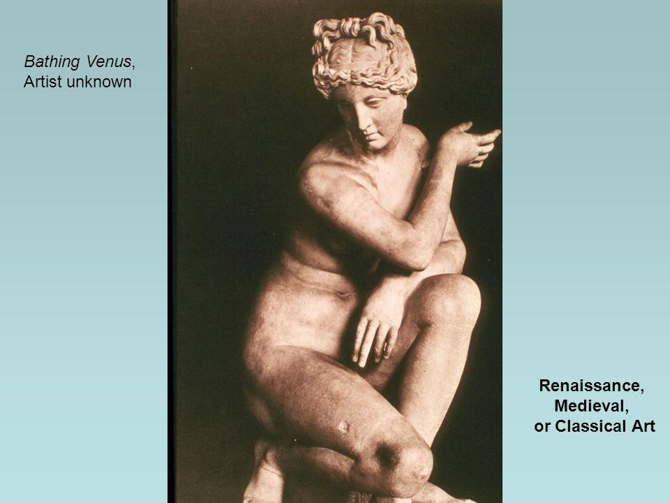 Renaissance, Medieval, or Classical Art Bathing Venus, Artist unknown