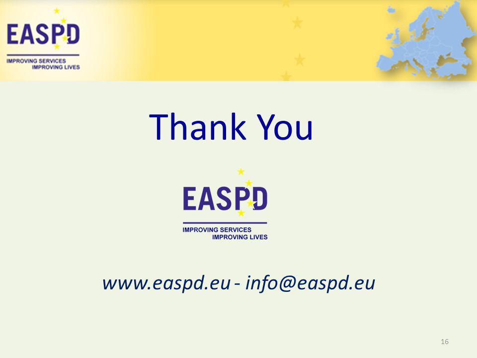 www.easpd.eu - info@easpd.eu 16 Thank You