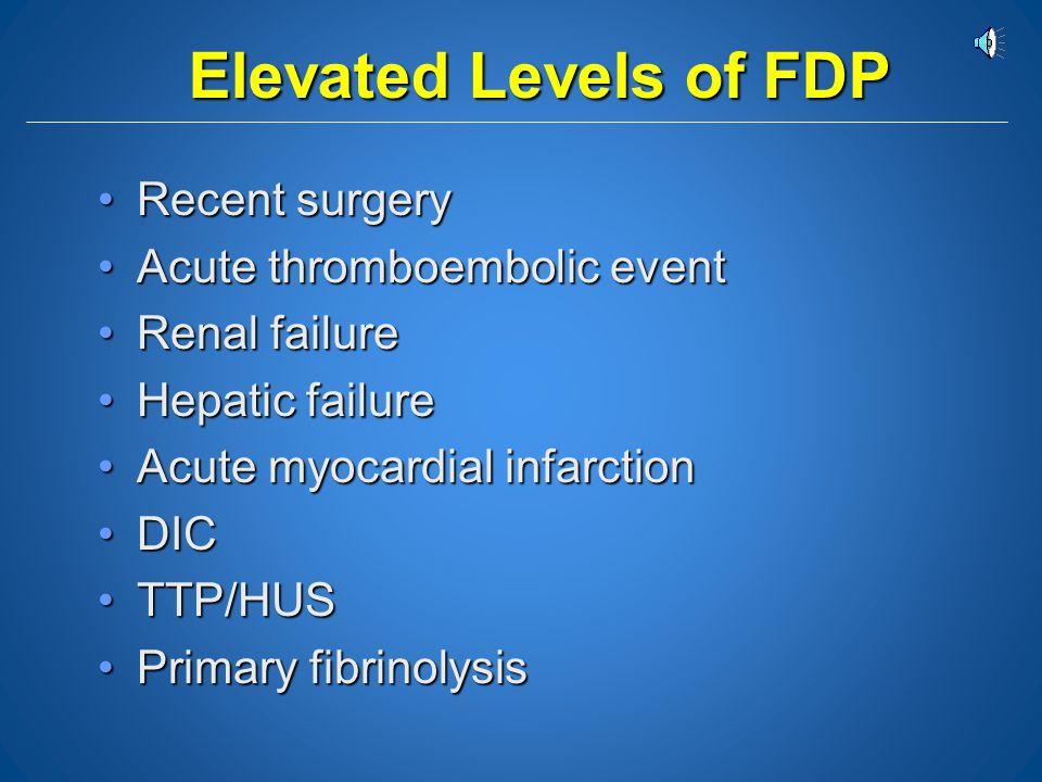 Vitamin K Deficiency vs. Acute DIC Vitamin KDIC PT APT FDP Fibrinogen *Platelets N or prolongedProlonged Normal ProlongedN or prolonged Usually elevat