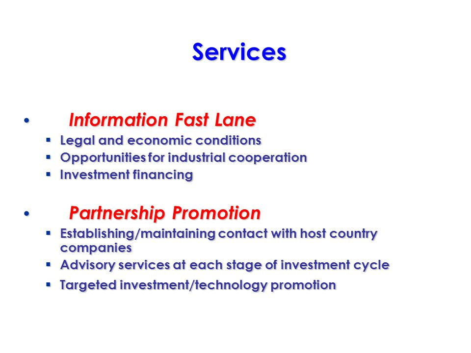 Partnerships – Joint Venture – Buyback – Credit line – Market Access – R&D – Marketing Expertise – Management Expertise – Subcontracting – Technology Transfer