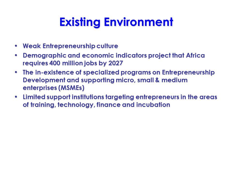 Shaping the Spirit of Entrepreneurship Enterprise Development & Investment Promotion Program