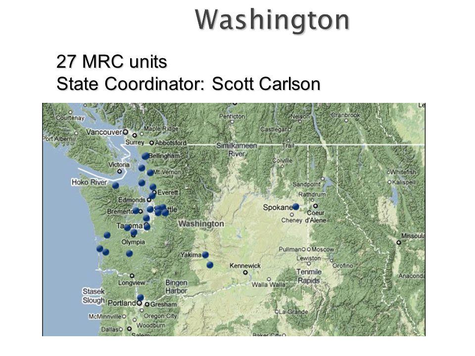 27 MRC units State Coordinator: Scott Carlson