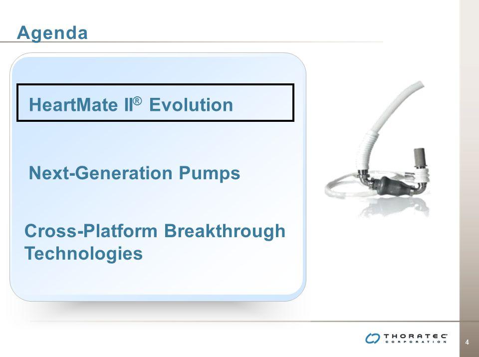 4 Agenda Next-Generation Pumps Cross-Platform Breakthrough Technologies HeartMate II ® Evolution