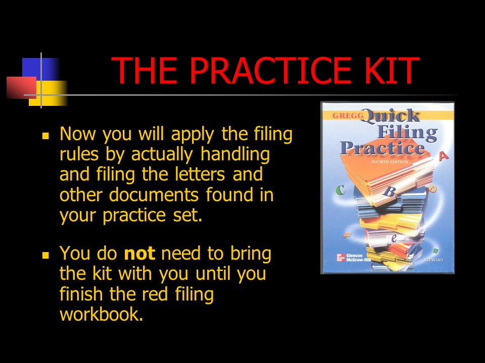 THE TEXTBOOK Text must be completed before you do the practice kit Read each unit and study all examples of the rules Write all of your answers in your text-workbook Complete the check your comprehension exercises and verify answers with key in back of your workbook Go over the worksheets for each unit with an instructor