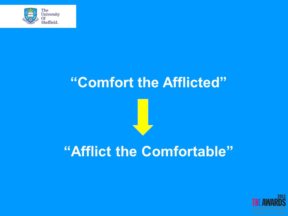 Comfort the Afflicted Afflict the Comfortable