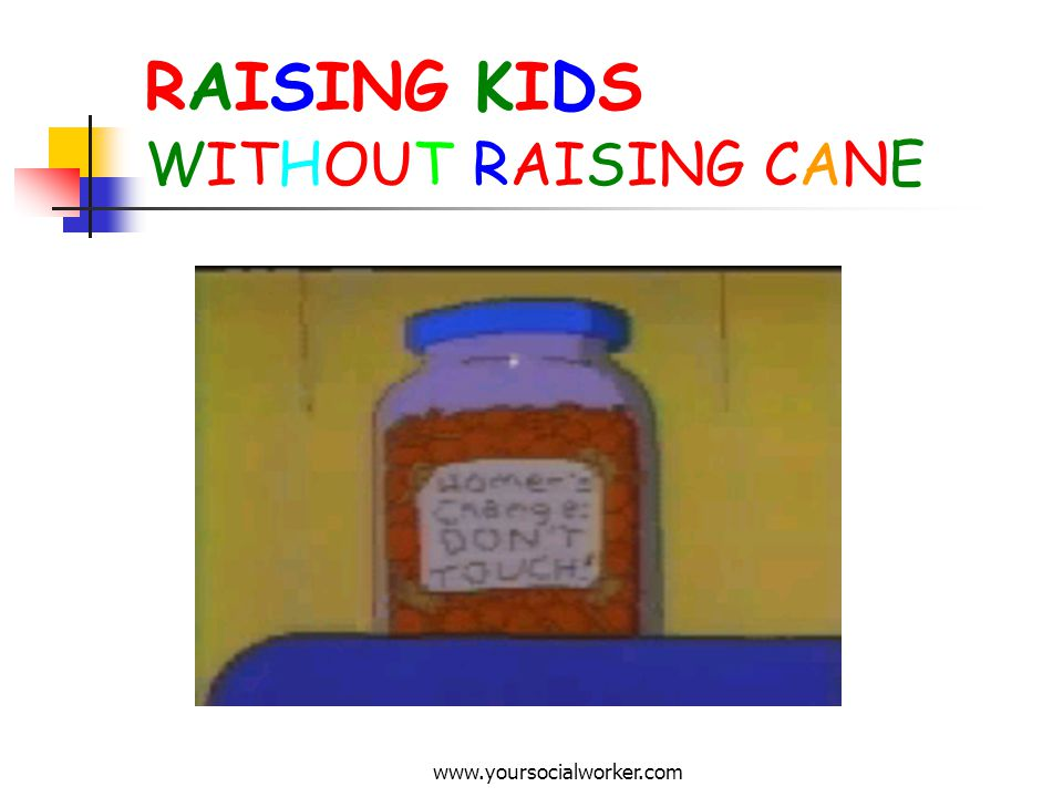 www.yoursocialworker.com RAISING KIDS WITHOUT RAISING CANE A guide to managing young childrens behaviour in helpful and healthy ways.