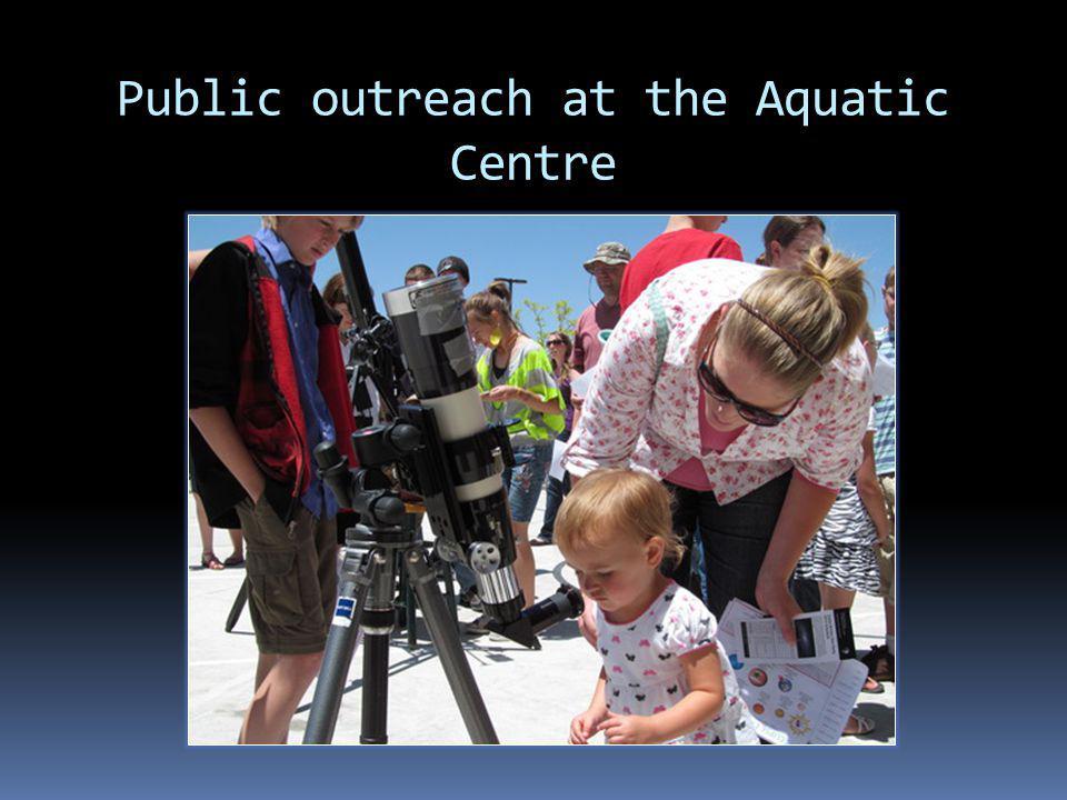 Public outreach at the Aquatic Centre