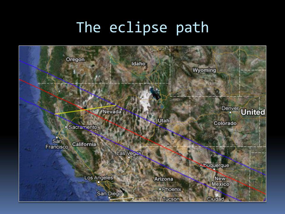 The eclipse path