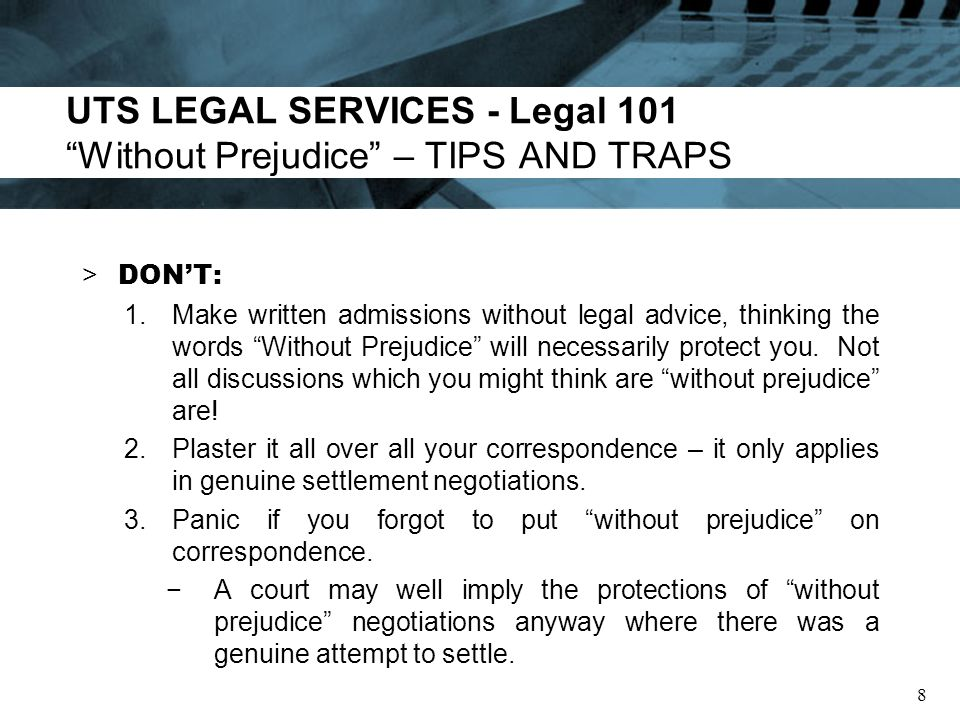 UTS LEGAL SERVICES - Legal 101 Client Legal Privilege – What is it.