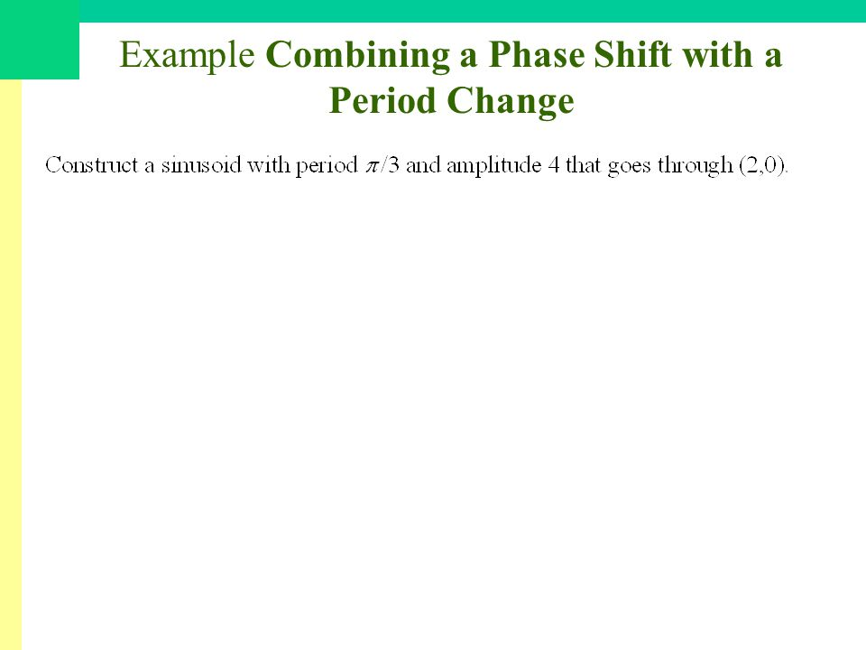 Example Combining a Phase Shift with a Period Change