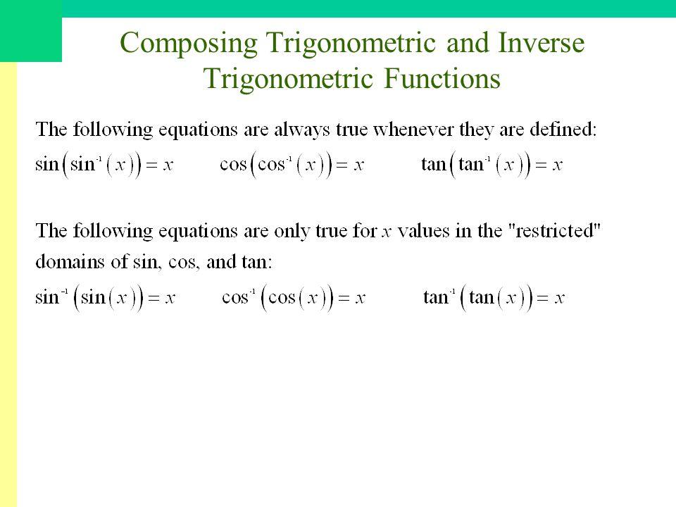 Composing Trigonometric and Inverse Trigonometric Functions