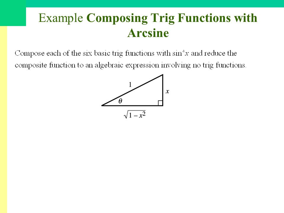 Example Composing Trig Functions with Arcsine