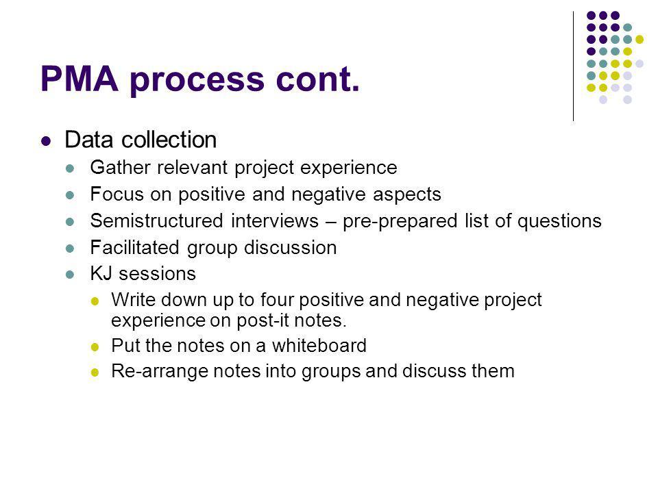 PMA process cont.