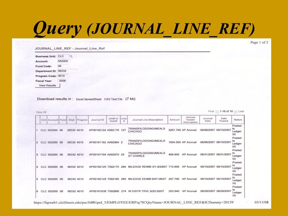 Query (JOURNAL_LINE_REF)