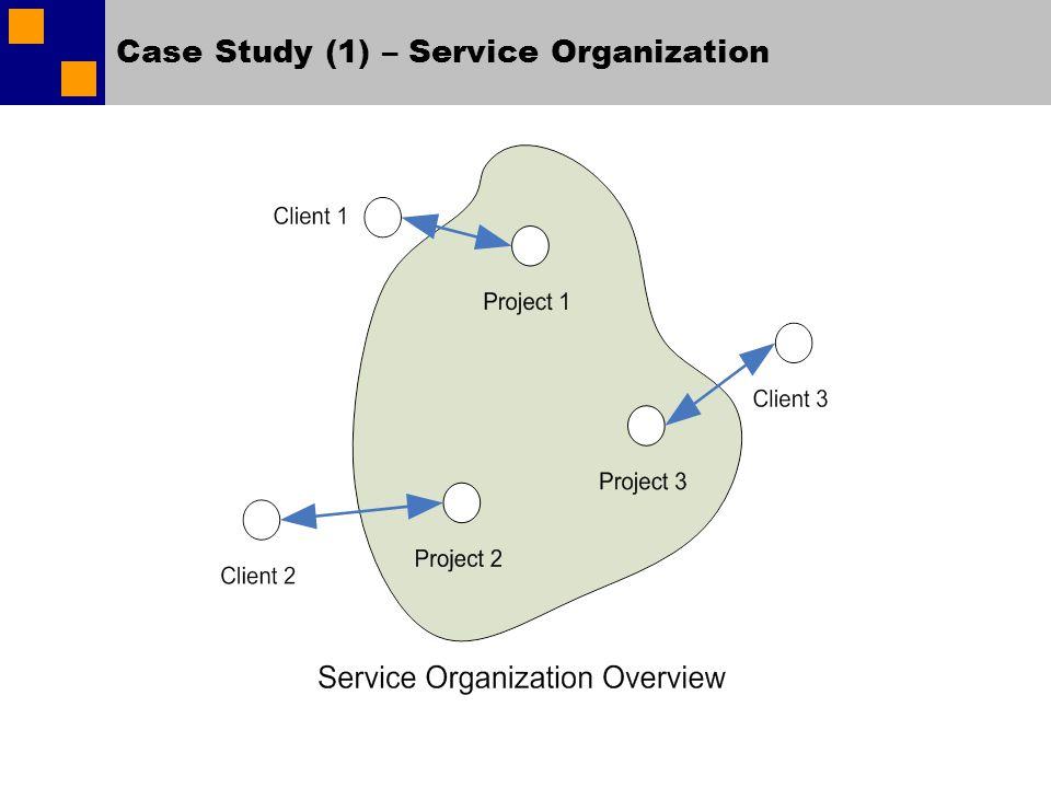 Case Study (1) – Service Organization