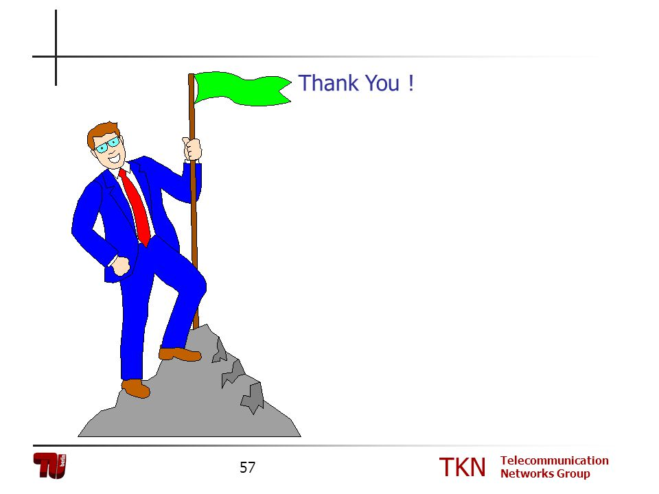 TKN Telecommunication Networks Group 57 Thank You !