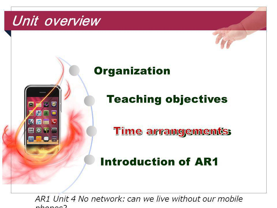 Unit overview AR1 Unit 4 No network: can we live without our mobile phones
