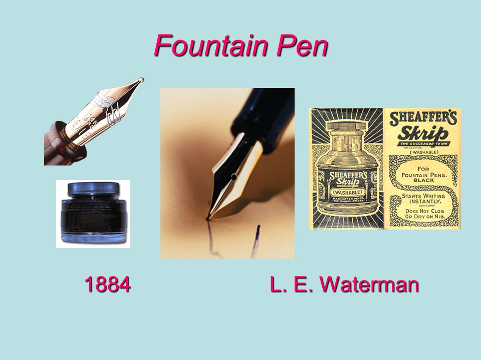 Fountain Pen 1884 L. E. Waterman