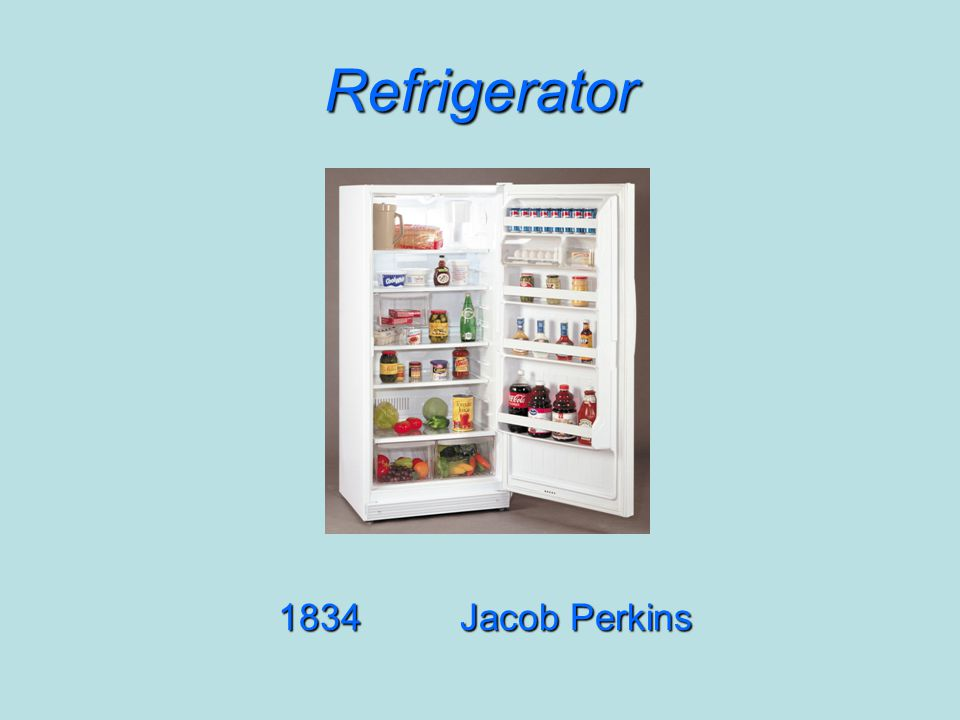 Refrigerator 1834Jacob Perkins