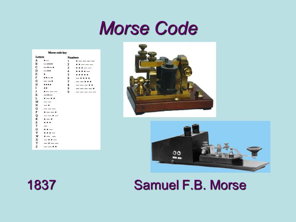 Morse Code 1837Samuel F.B. Morse