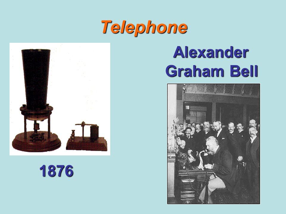 Telephone Alexander Graham Bell 1876