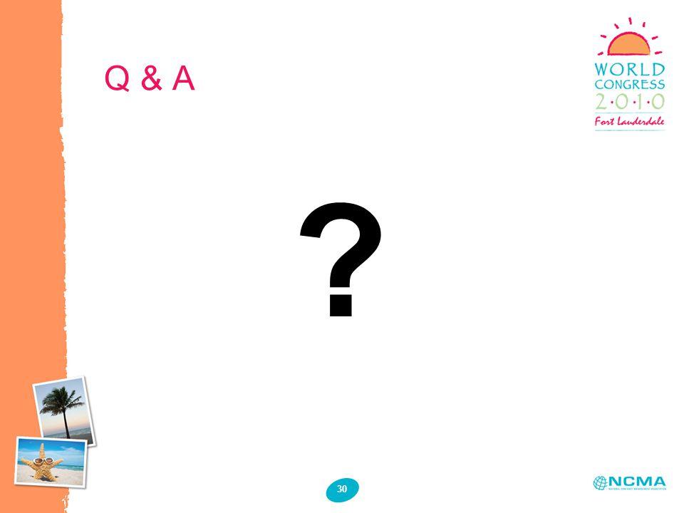 Q & A 30