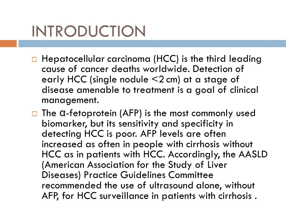 In this ancillary study of the prospective HALT-C Trial, we evaluated AFP, DCP, and AFP-L3 as biomarkers for detection of HCC on serial frozen serum samples.