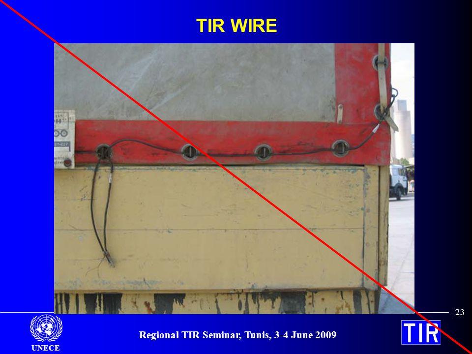 UNECE Regional TIR Seminar, Tunis, 3-4 June 2009 23 TIR WIRE
