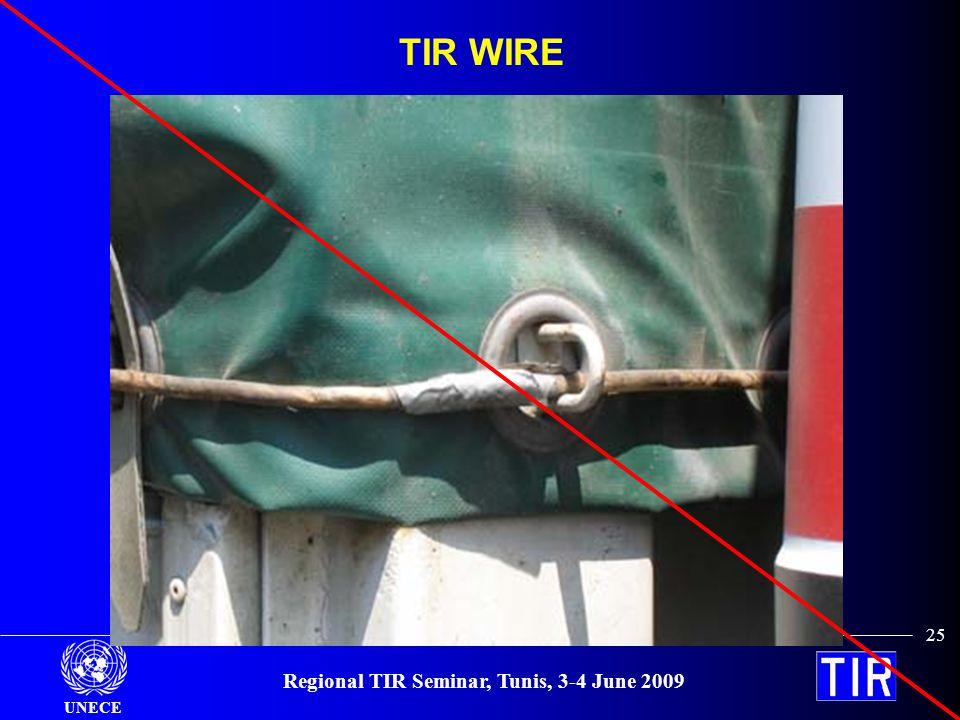 UNECE Regional TIR Seminar, Tunis, 3-4 June 2009 25 TIR WIRE