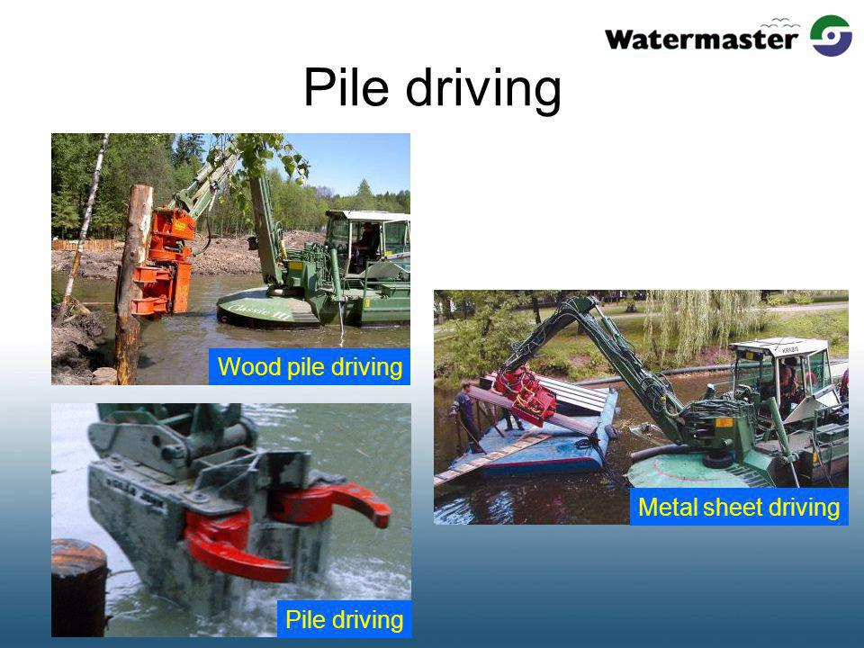 Pile driving Wood pile driving Metal sheet drivingPile driving